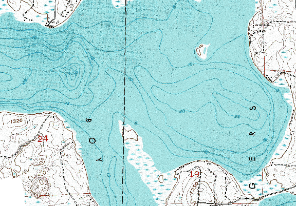 ChartSelect's contour preview for Big Boy LakeMaster Layer