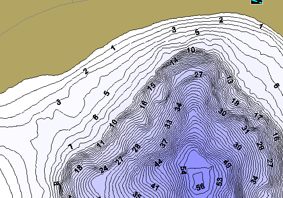 ChartSelect's contour preview for Big Dummy LakeMaster HD Contour