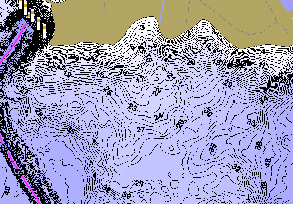 ChartSelect's contour preview for Bob Sandlin LakeMaster HD Contour