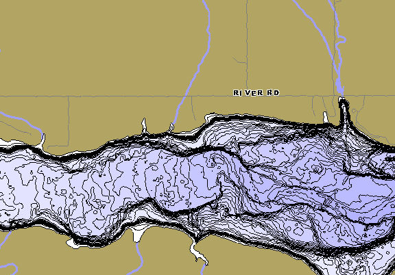 ChartSelect's contour preview for Box Butte Reservoir LakeMaster HD Contour