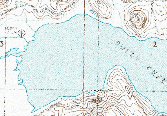 ChartSelect's contour preview for Bully Creek LakeMaster Layer