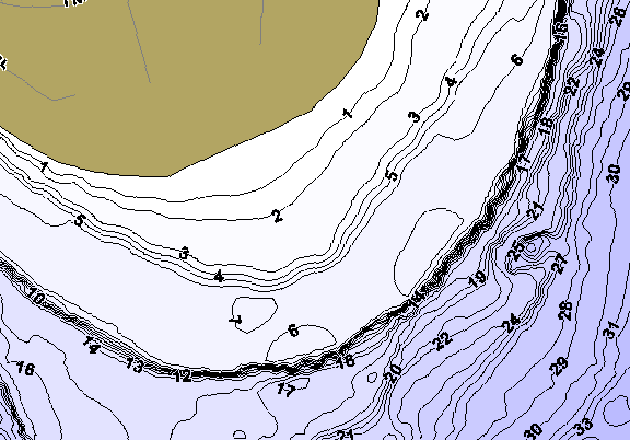 ChartSelect's contour preview for Burt LakeMaster HD Contour