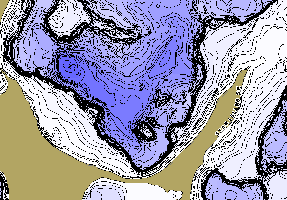 ChartSelect's contour preview for Cass Lake Chain LakeMaster HD Contour
