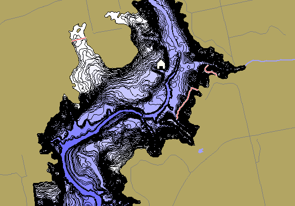 ChartSelect's contour preview for Champion Creek Reservoir LakeMaster HD Contour