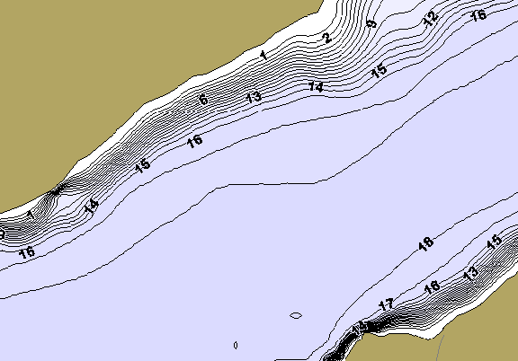 ChartSelect's contour preview for Chickenbone LakeMaster HD Contour