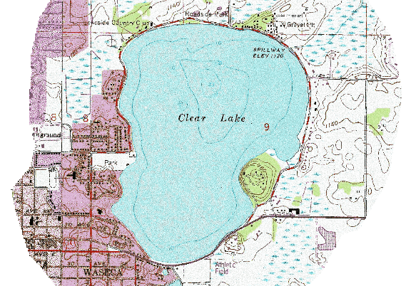 ChartSelect's contour preview for Clear LakeMaster Layer