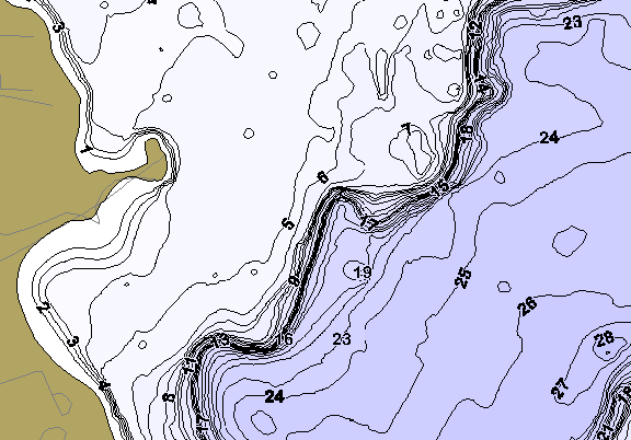 ChartSelect's contour preview for Clear Lake LakeMaster HD Contour