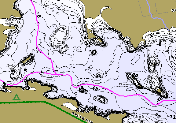 ChartSelect's contour preview for Clear Fork LakeMaster HD Contour