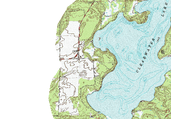ChartSelect's contour preview for Clearwater LakeMaster Layer