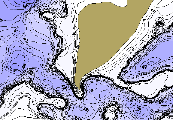 ChartSelect's contour preview for Clearwater LakeMaster HD Contour