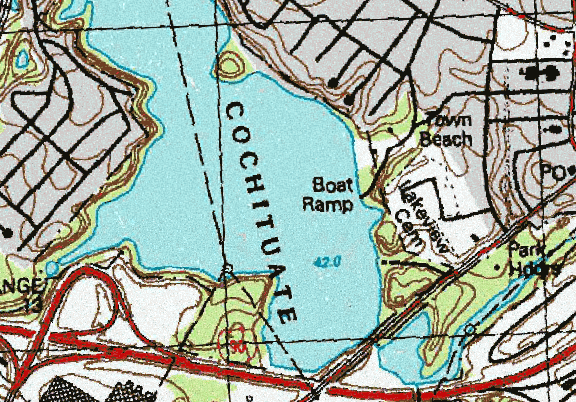 ChartSelect's contour preview for Cochituate LakeMaster Layer