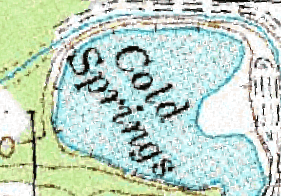 ChartSelect's contour preview for Cold Springs LakeMaster Layer